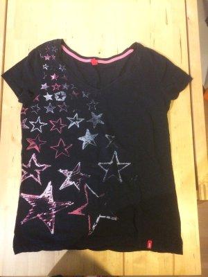 schwarzes T-Shirt, Sternensymbol, XXL /Größe 46