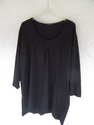 schwarzes T-Shirt Vintage Retro Oversize Spitzen