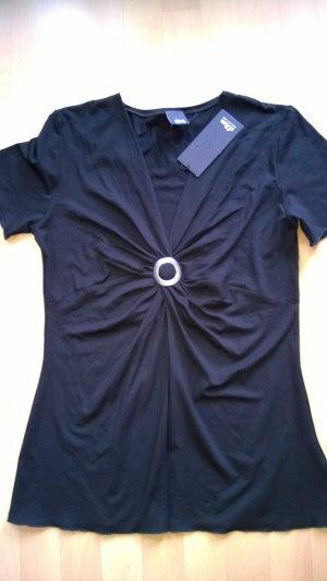 Schwarzes T-Shirt von Comma, neu mit Etikett, Größe 40