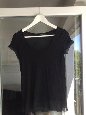 schwarzes T-Shirt von Hallhuber in S