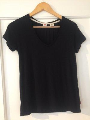 Schwarzes T-Shirt von Levis