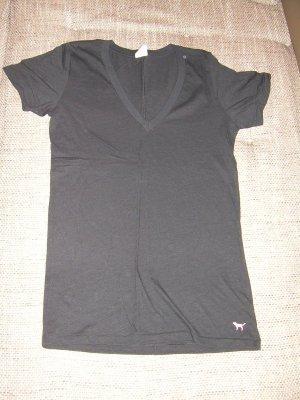 schwarzes T-Shirt von Pink by Victoria's Secret Gr. L