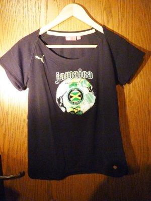 Schwarzes T-Shirt von Puma mit Aufdruck in M