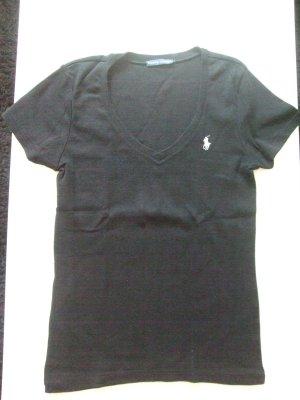 schwarzes T-Shirt von Ralph Lauren