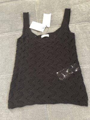 Jacqueline de Yong Crochet Top black