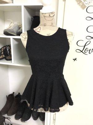 Vero Moda Top de encaje negro