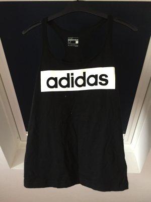 Adidas Sporttop zwart-wit Katoen