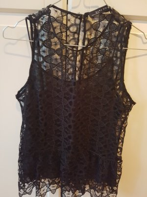 Zara Top di merletto nero