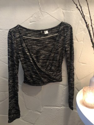 Schwarzes Top croptop wickel