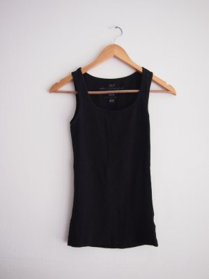 H&M Basic Top black cotton