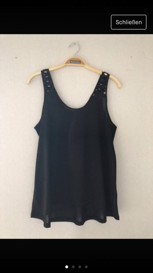H&M Top cut-out nero