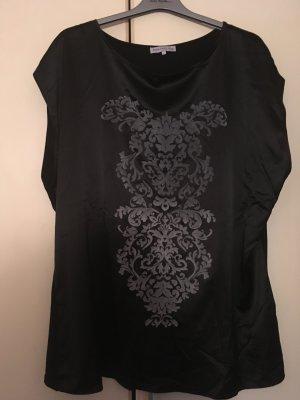 Schwarzes Top mit grauem Muster vorne