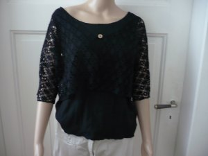 C&A Crochet Top black cotton