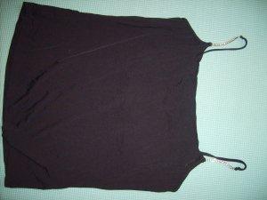 Schwarzes Top/Träger mit Strass NEU Underwear