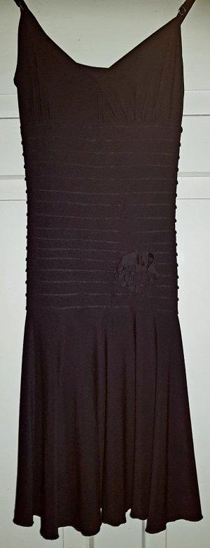 Schwarzes Trägerkleid aus Elastan