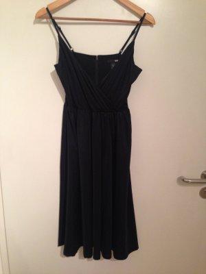 H&M Pinafore dress black polyester