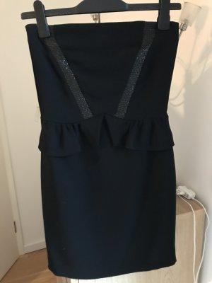 Schwarzes trägerloses Kleid/Etuikleid von SANDRO in Größe 36 (1)