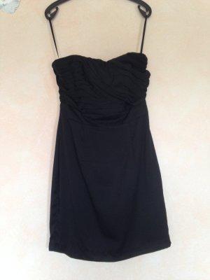 Schwarzes trägerloses Kleid von H&M Gr. 38 Abendkleid Cocktailkleid