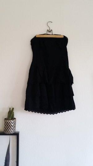 Schwarzes Trägerloses Kleid von Only