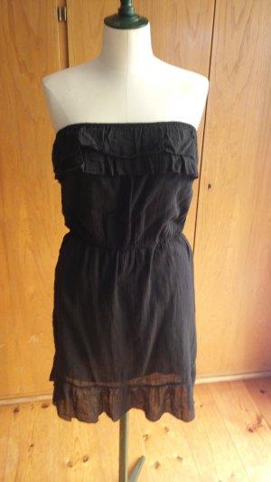 Schwarzes trägerloses Kleid von Promod