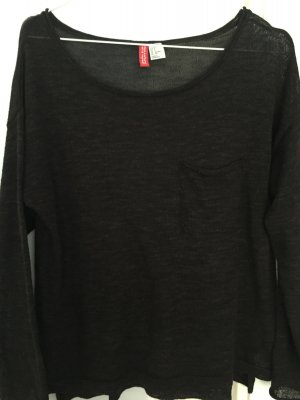 Schwarzes transparentes Longshirt