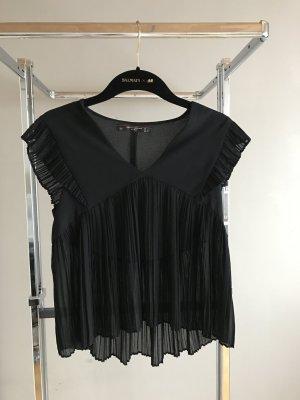 Zara Top maillé noir