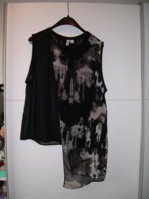 schwarzes transparentes Top von H&M Divided Gr. 42 asymmetrisch