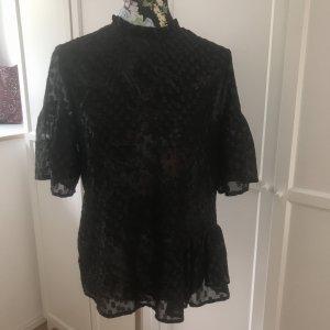 Schwarzes Transparenz Shirt / Bluse