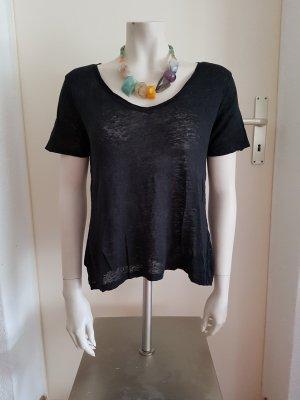 schwarzes Tshirt aus Leinen