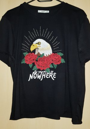 schwarzes Tshirt mit Druckerei