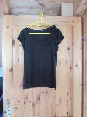 schwarzes Tshirt mit Raffung