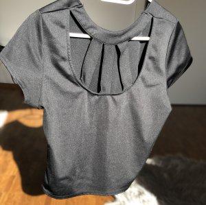 Camicia cropped nero