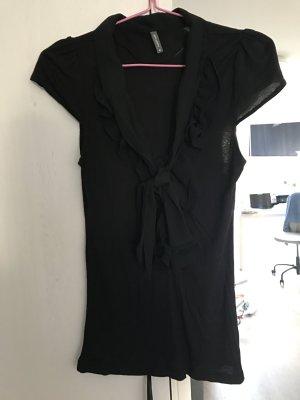 schwarzes tshirt mit schleife