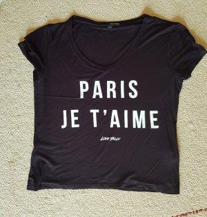 Schwarzes Tshirt mit Schrift