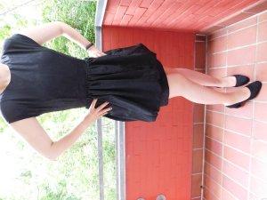 Schwarzes Twenties Ballon-Kleid