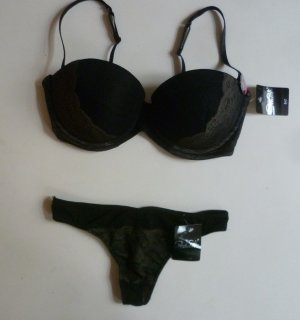 Lingerie Set black-gold-colored