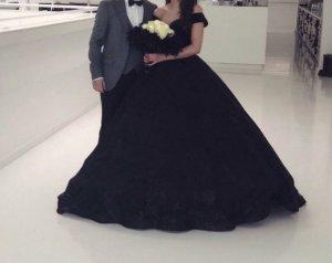 Schwarzes Verlobung / Henna Kleid