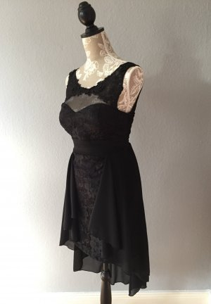 Schwarzes Vokuhila-Kleid, Gr. 36