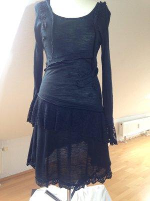 Apricot Volante jurk zwart