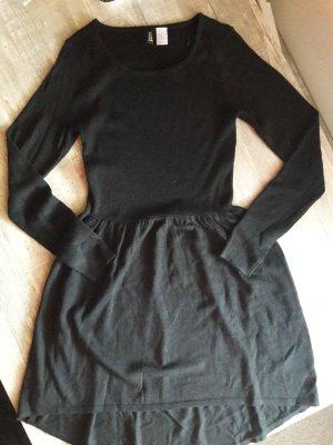 H&M Divided Abito di maglia nero Tessuto misto