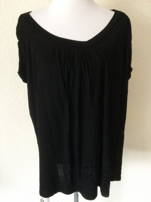 schwarzes weites Shirt / T-Shirt von Desigual - Gr. L, eher XL