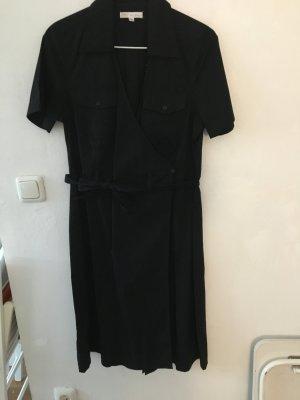 Robe portefeuille noir coton