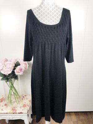 Schwarzes Winter Kleid Damen gr L