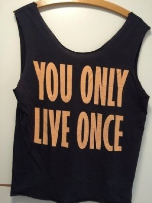 "Schwarzes ""You Only Live Ones"" Tanktop"