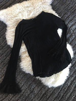 Schwarzes Zara Oberteile mit weiten Ärmeln