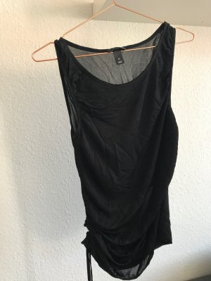 schwarzes Zipper-Top, Größe M, H&M