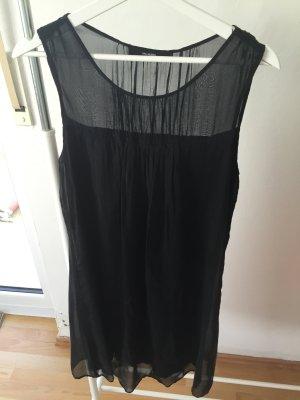 Schwarzes zweilagiges Kleid von Hallhuber Größe 38