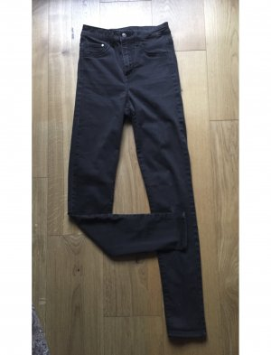 Schwarzgraue High Waist Jeanshose 27/32