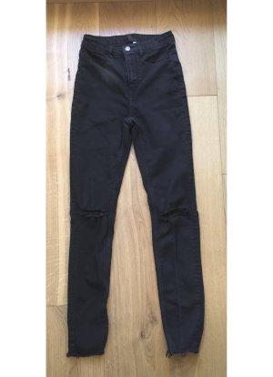 Schwarzgraue Highwaist Ripped Jeans