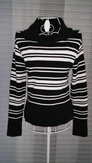 Schwarzweiß gestreifte Pullover